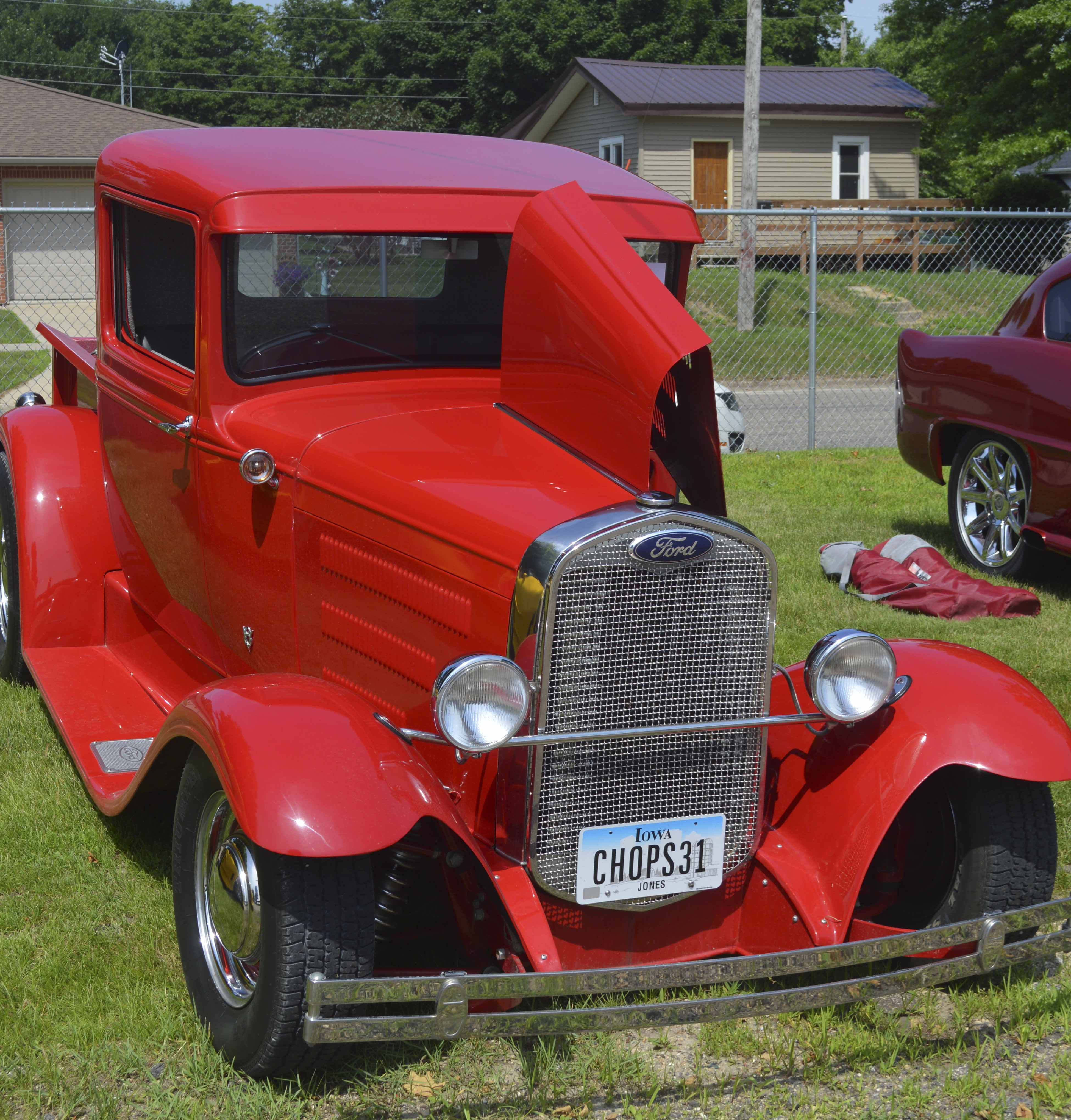 Multiple cars were on display at the fairgrounds, including this 1931 Ford Pickup owned by Mike Lambert Sr. of Monticello.