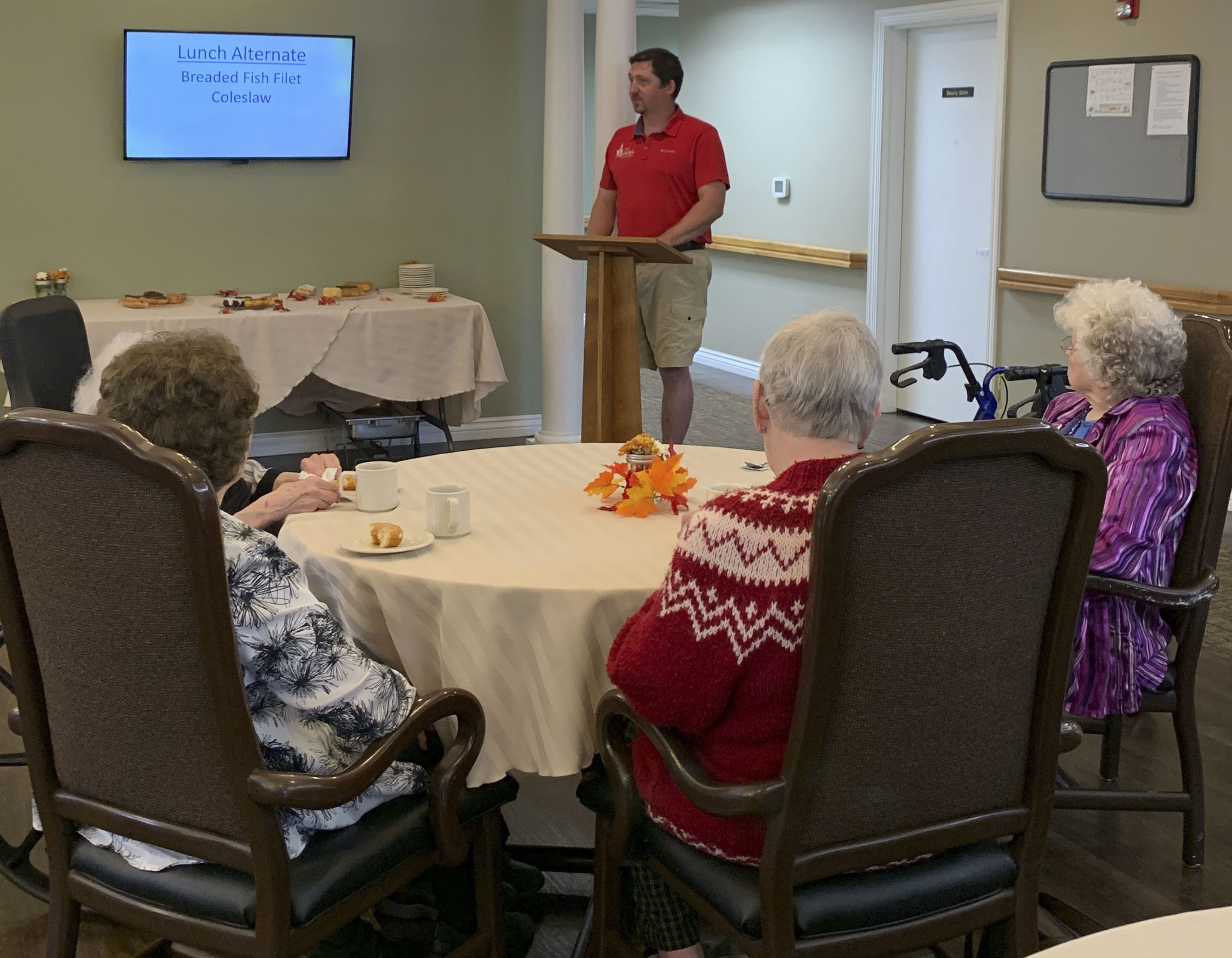 Mayor Brian Wolken visited Pennington Square Assisted Living last week to read a proclamation honoring National Assisted Living Week, Sept. 9-15. Wolken also read the proclamation during the Monday, Sept. 16 city council meeting. (Photo submitted)