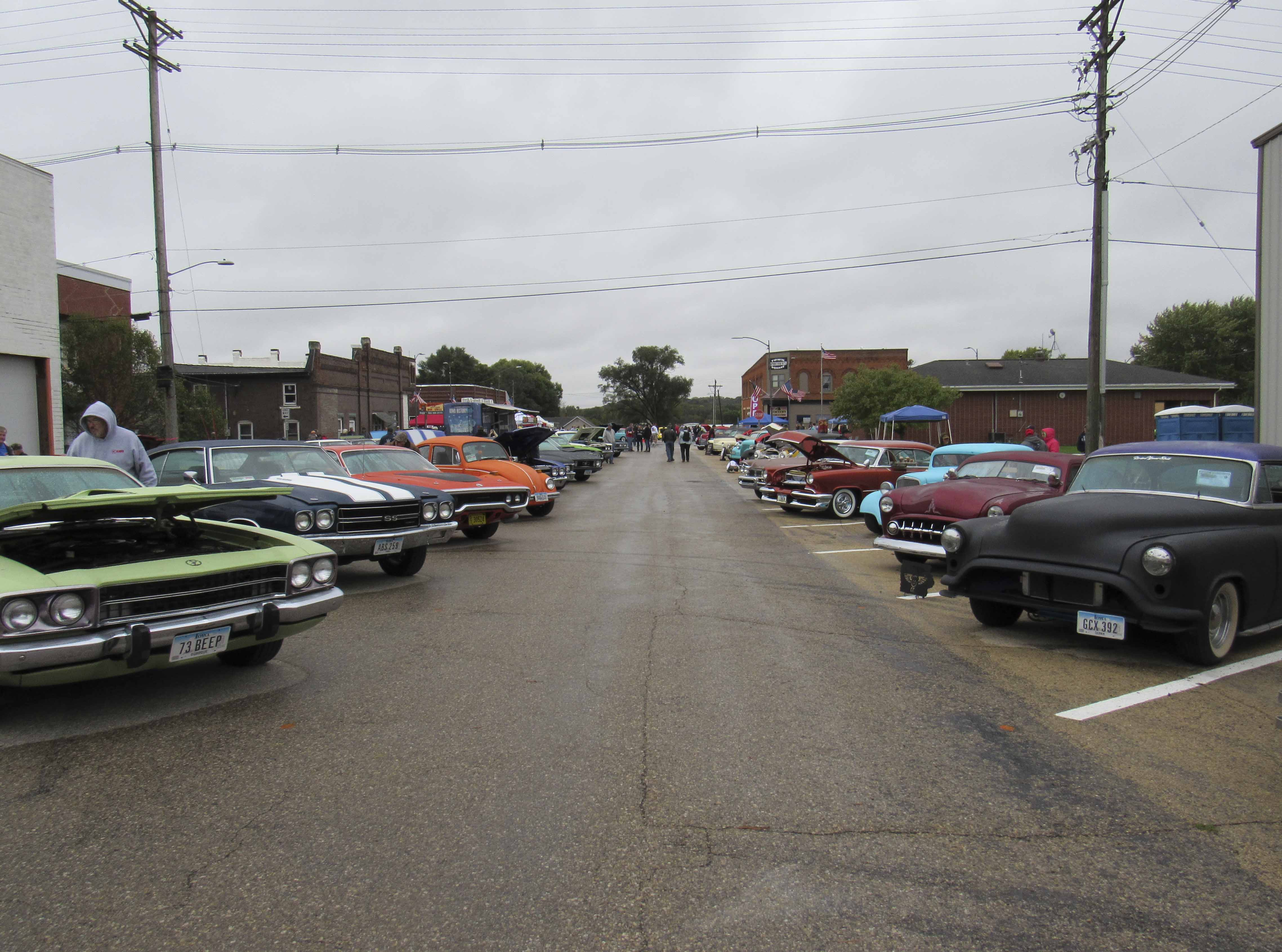 Despite the non-stop rain on Sunday, Oct. 7, several classic car enthusiasts brought out their best to display in downtown Hopkinton for the annual Hot Rods & Harleys Car Show.