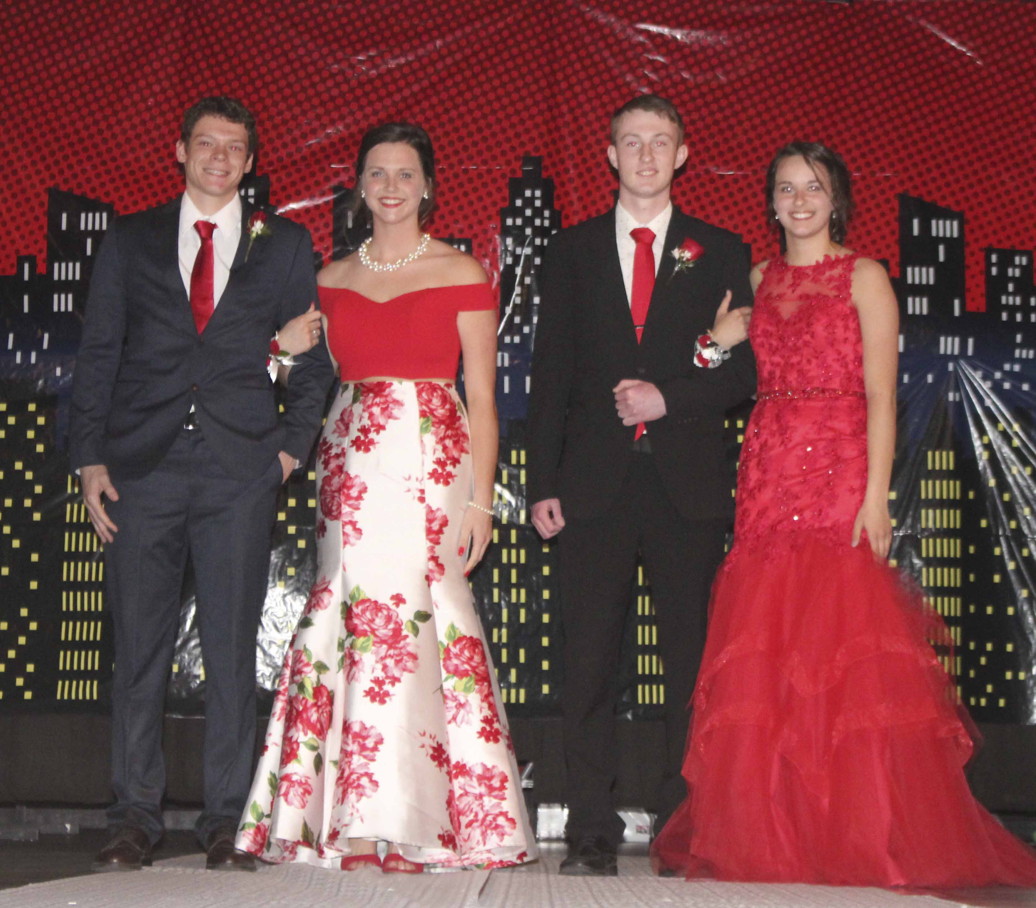 Also participating in the Grand March, from left: Mason Newhard, Rileigh Lambert, Connor Harms and Maria Recker.