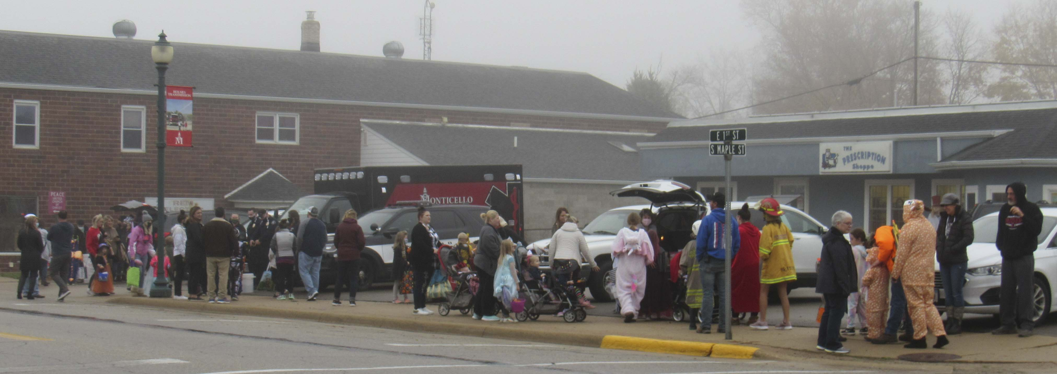 The parking lot in front of the Prescription Shoppe was a popular spot during Treats on Streets, Oct. 22.
