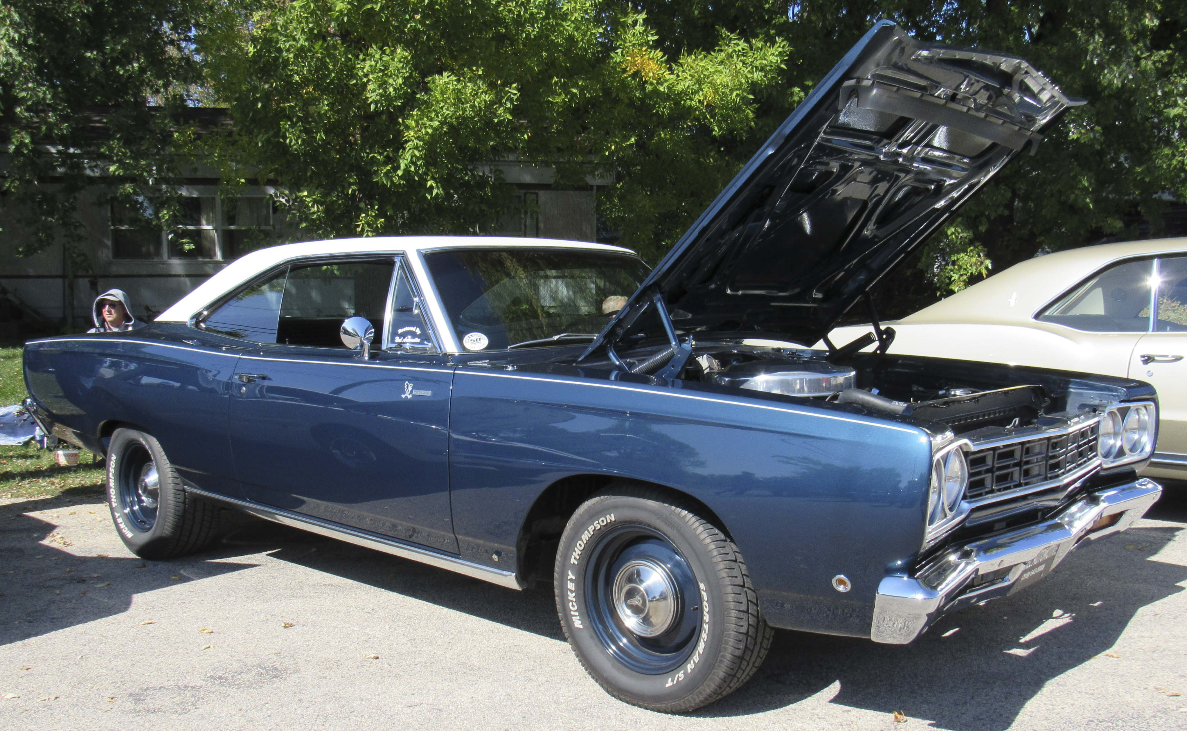 Gary Hoffman of Anamosa is the owner of a 1968 Plymouth Road Runner.