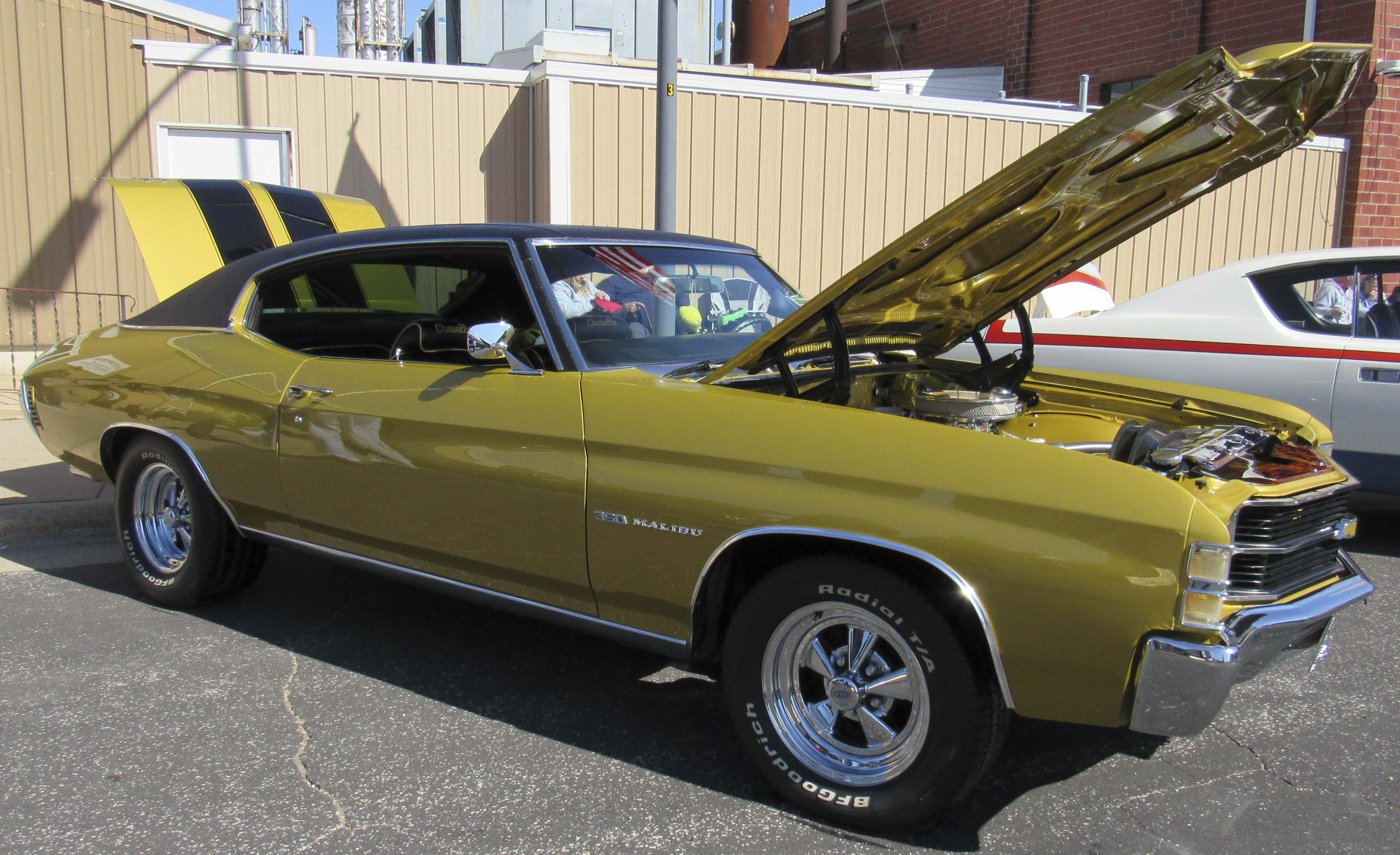 The car show included a couple of Iowa Hawkeye fan cars like this 1971 Chevy Chevelle owned by Tim and Judy Knudsen of Cedar Falls.