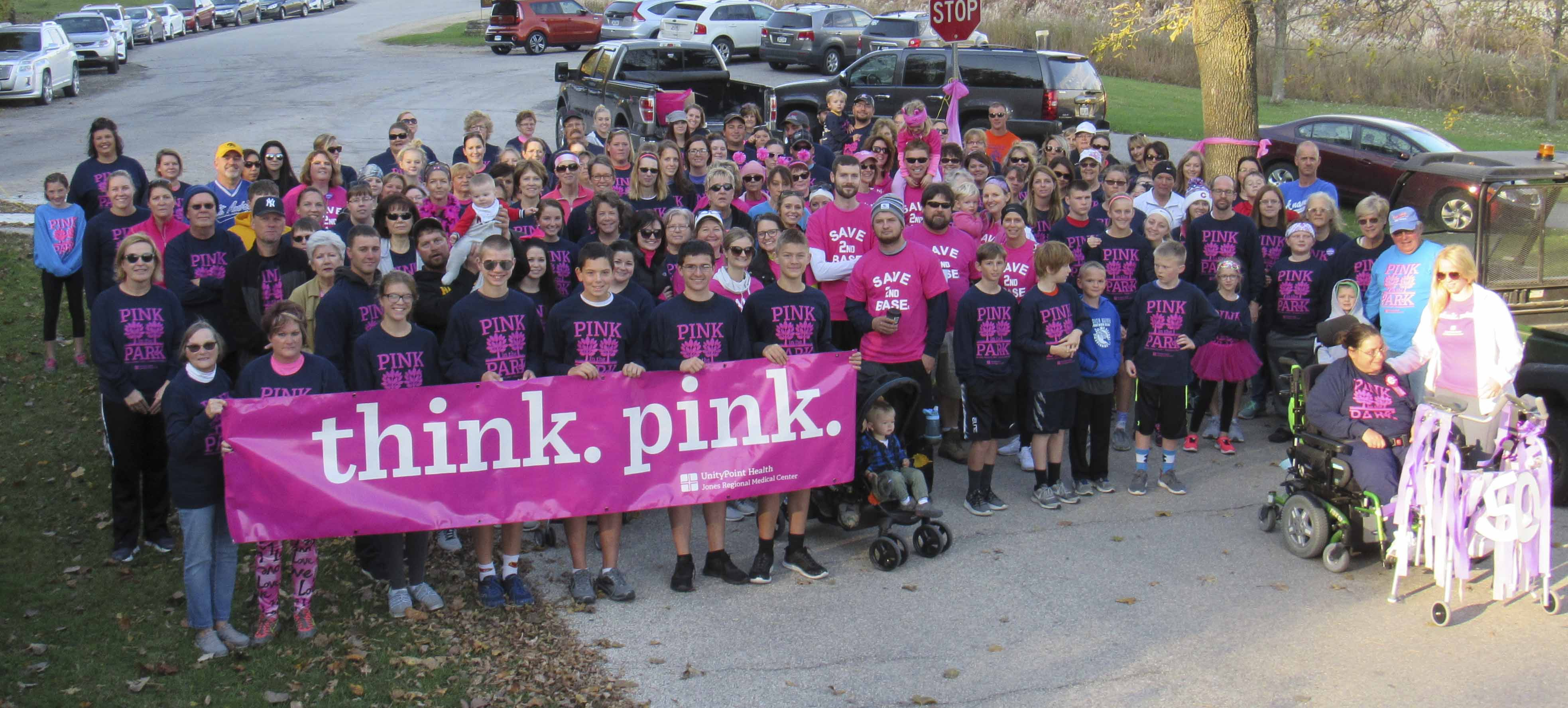 On Oct. 21, Jones Regional Medical Center held its fourth annual Pink in the Park 4K Walk/Run at Wapsipinicon State Park. The event helps to raise money for JRMC's 3-D Mammogram Project. Over 200 people took part in the event for Breast Cancer Awareness Month. (Photo by Kim Brooks)