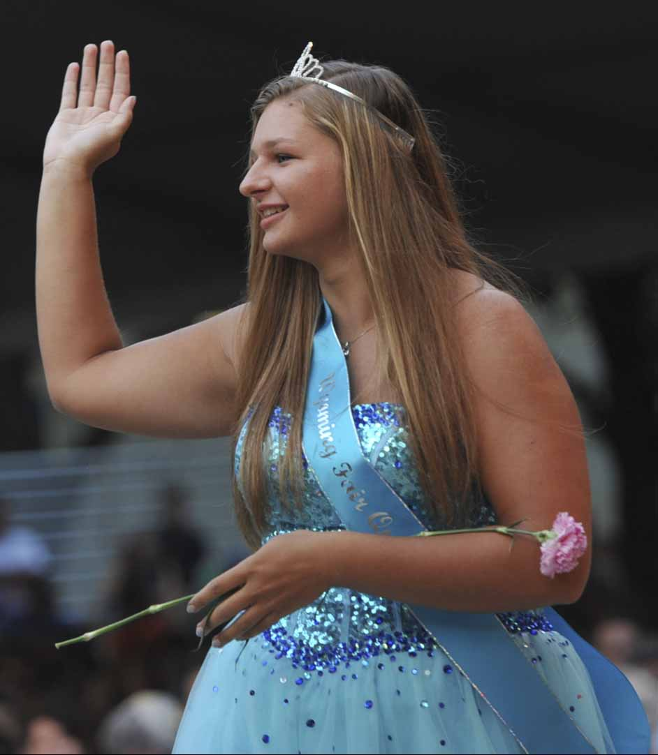 Wyoming Fair Queen Libertie Uppena, 18, of Wyoming, participates in the 2017 Iowa State Fair Queen Coronation Ceremony on Aug. 12. (Iowa State Fair/ Steve Pope Photography)
