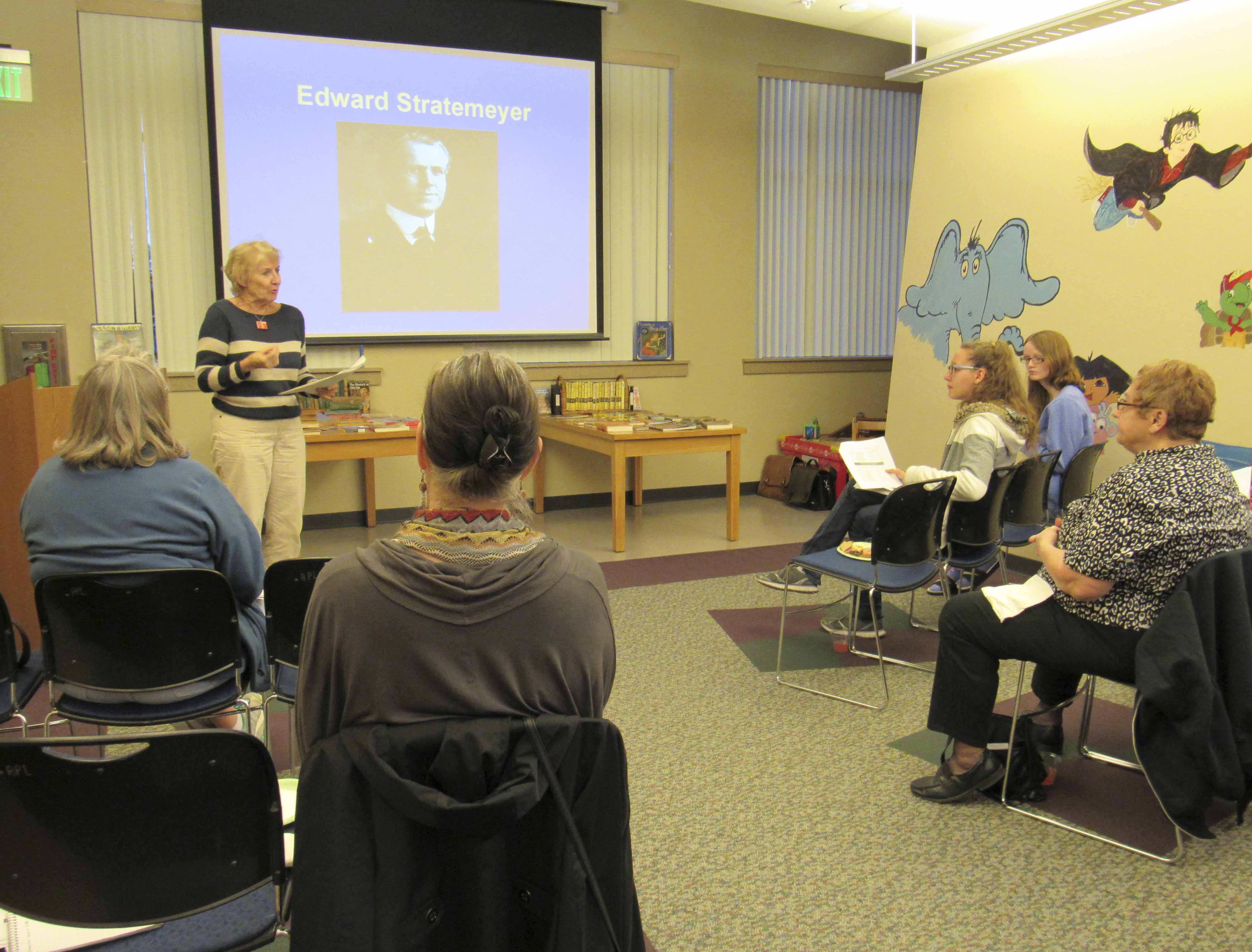 The Monticello Public Library welcomed Nancy Drew historian and collector Dr. Barbara Lounsberry on Oct. 4. Lounsberry, who is a former English professor from the University of Northern Iowa, is an avid fan of all things Nancy Drew. Her talk not only centered on the history of the famed female detective that spans several decades, but on the original unknown author Mildred Augustine of Ladora, Iowa.