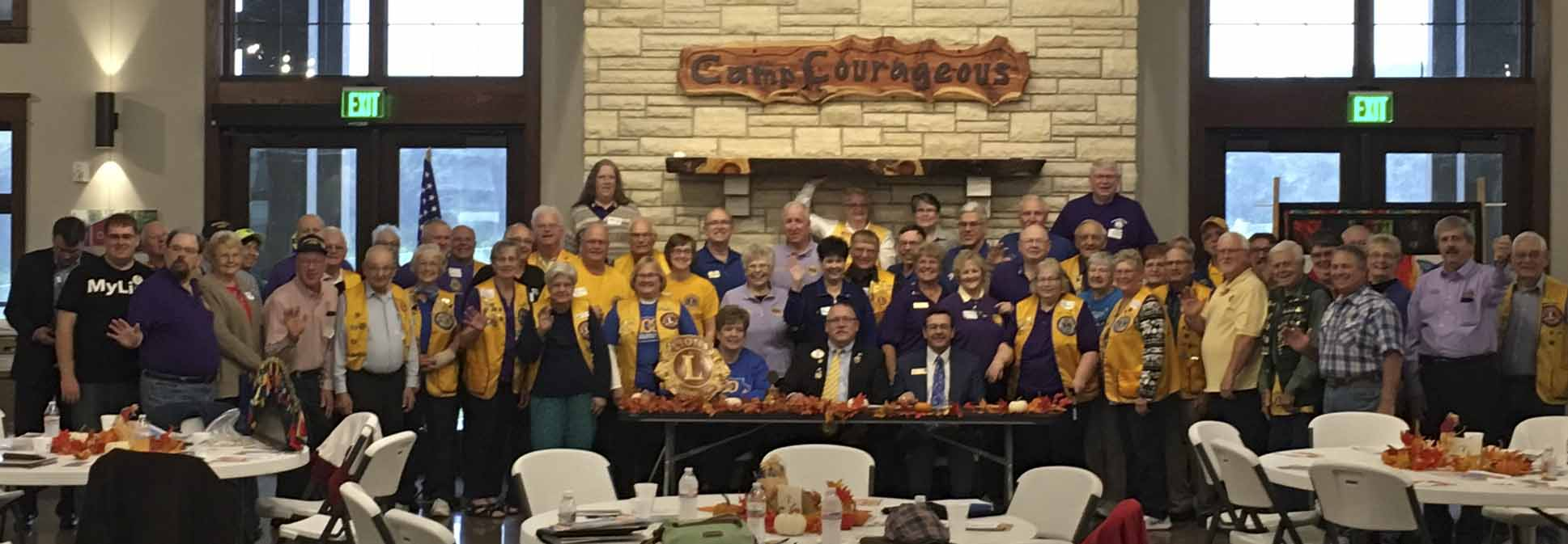 The East Central District of the Iowa Lions Club held their Fall Rally inside the new Durgin Pavilion at Camp Courageous on Oct. 14. At the event, the Lions packaged over 850 pasta meals and 300 eyeglass cases filled with personal hygiene items. (Photo submitted)