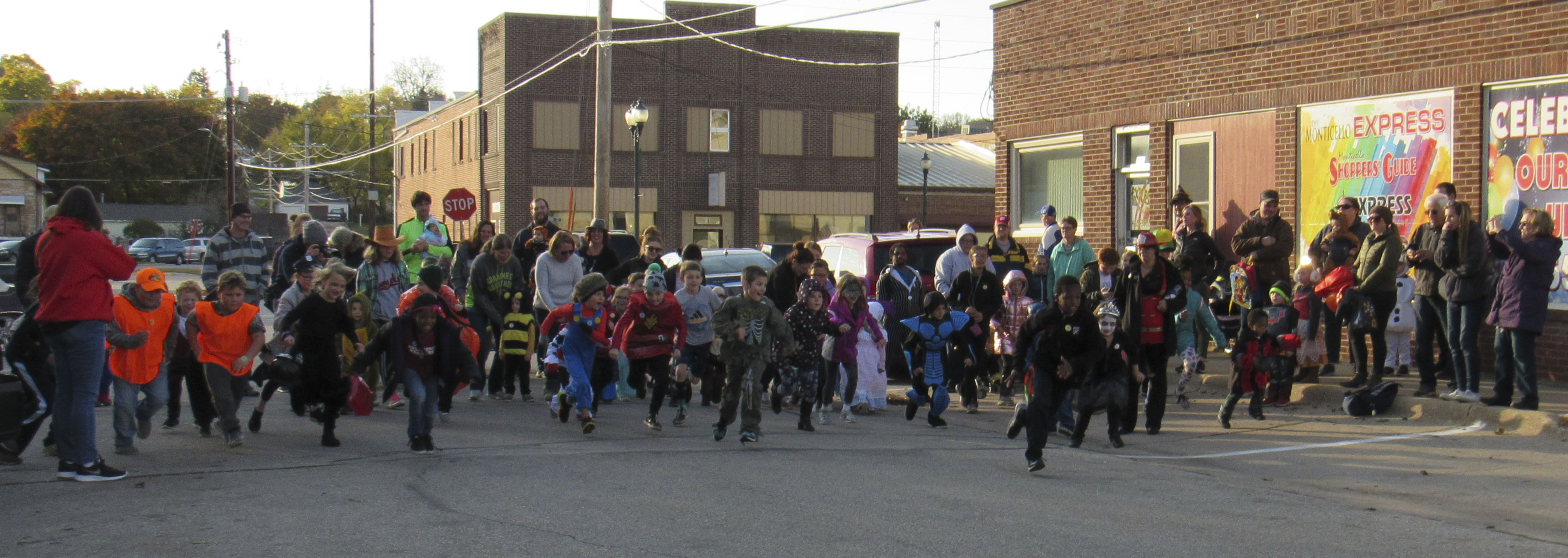 The Monster Mile/Dash was held prior to Treats on the Streets on Oct. 24. Kids of all ages dressed in their Halloween costumes took part in the race. (Photos by Kim Brooks)
