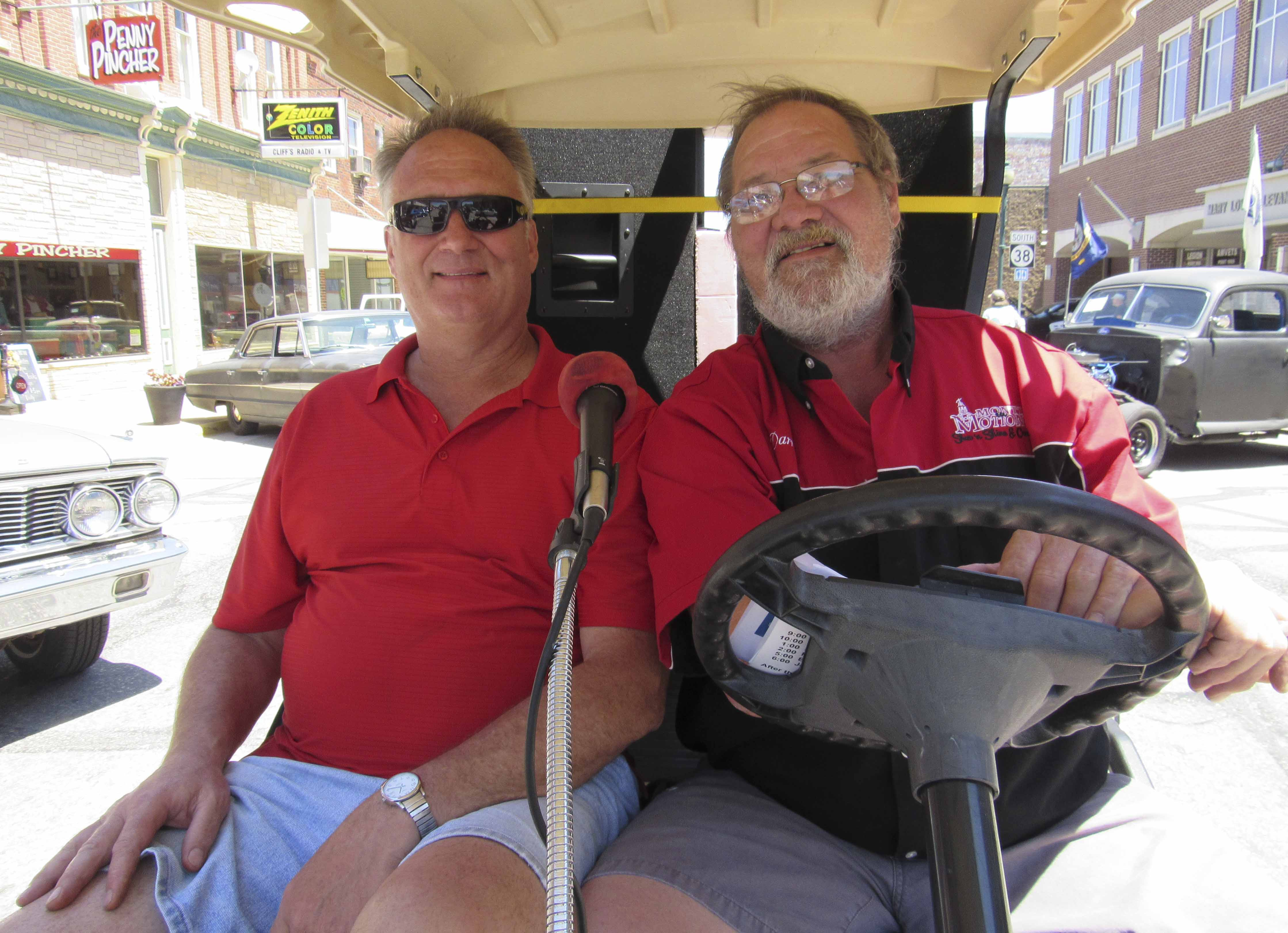Greg Kromminga and Darrell Reyner entertained the Monti in Motion crowd on June 10 with classic tunes. Both men also brought classic cars of their own to display.