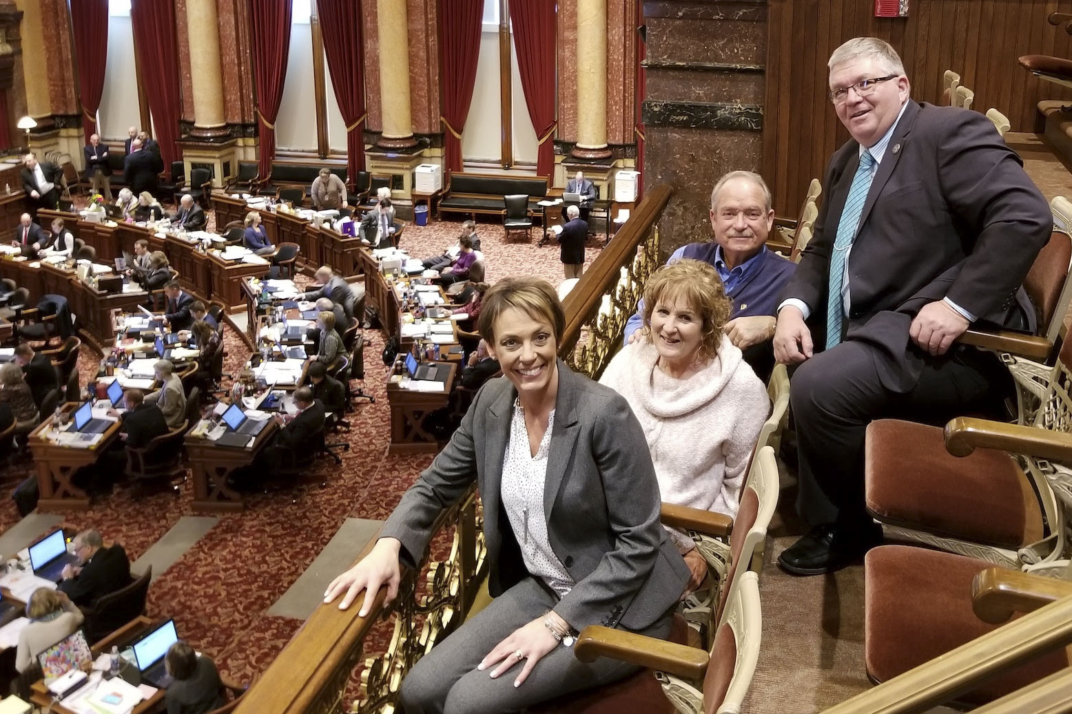 Last week, Jones County Supervisor Ned Rohwedder and his wife Cindy visited the Iowa Capitol while in Des Moines. The Rohwedders are seen here with Sen. Carrie Koelker and Sen. Dan Zumbach. (Photo submitted)