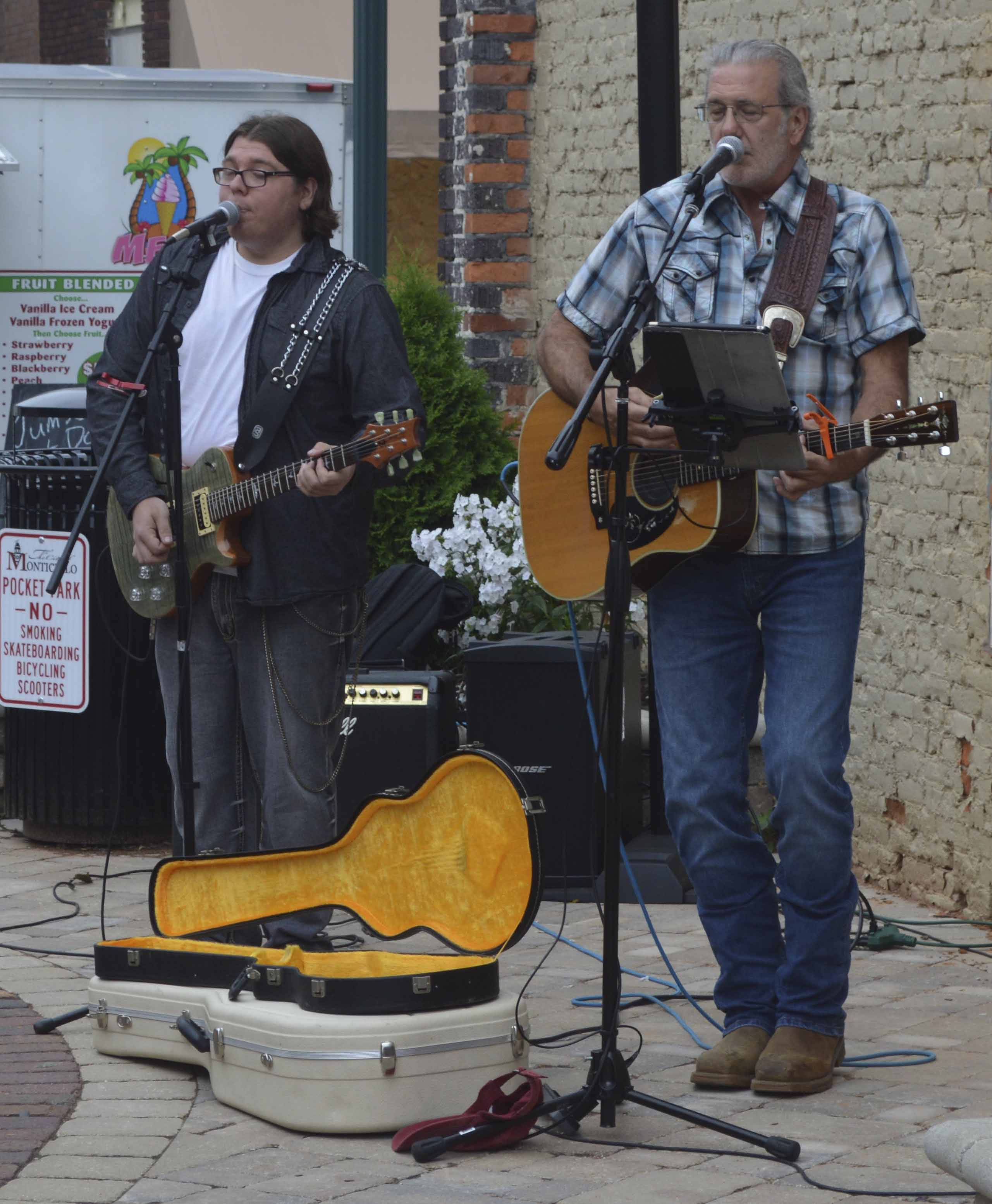 Ron Lafleur & The Boy Scout Hippies performed live for everyone who came out Thursday night. The event runs from five to eight p.m.