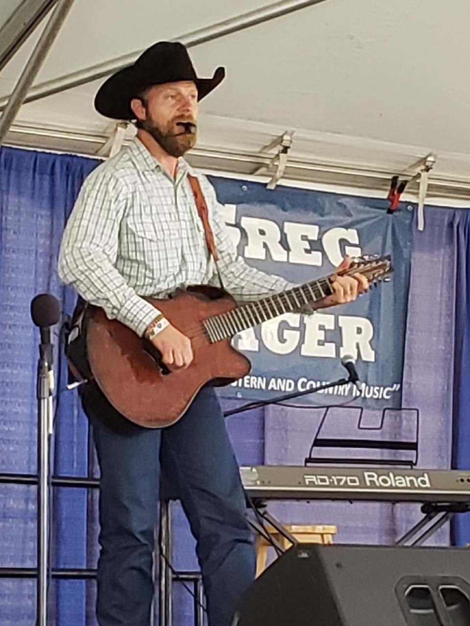 Country gospel artist Greg Hager offered his musical talents throughout fair weekend on the Free Stage.