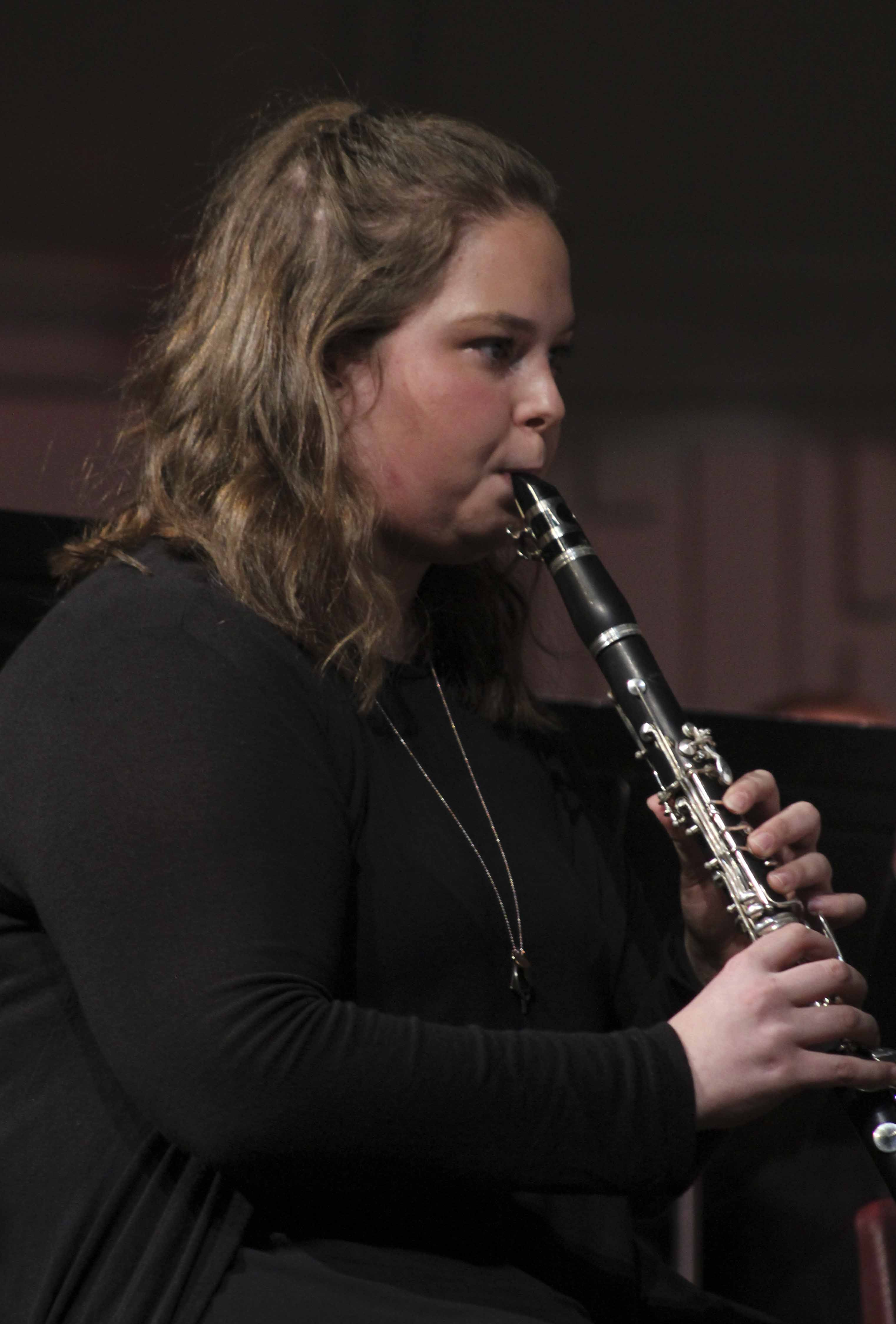 Olivia Goodyear plays clarinet at the Spring Pops Concert.