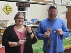 The Amber Community Club hosted its fifth annual chili Cookoff on Nov. 22. Taking first place was Tim Oberbreckling (right). Heidi Keum received second place. Mark your calendar for Nov. 20, 2020, for the sixth annual chili cook-off. (Photo submitted)