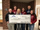 Citizens State Bank donated $300 to assist the high school All-State Speech students as they headed to Ames for their performance on Feb. 17. Front from left are Jon Mootz, Tina McDonough with CSB, and Payton Jaeger. Standing in back are Jeff Carlson, Speech Coach Kim Carlson, and Alex Nealson. (Photo submitted)