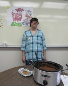 Cassie Reth took home second place in the Monticello Transition Center's Chili Cook-off with her Beef and Bean Chili recipe.