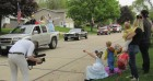 KCRG-TV9 News captured the Disney parade in Monticello. The Phipps family waves as Disney princesses and a prince travel by. Also taking part in the parade were the Monticello Police, Fire and Ambulance departments.