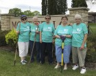On May 18, the Monticello Garden Club planted flowers at a variety of locations throughout the city: Fountain Park (near the swimming pool), the Community Building, and by the front gate of the city park (fairgrounds). In the photo from left are Marilyn Schneiderman, Julie Carlson, Marla Walters, Rhonda Meyers, and Ruth Zirkelbach. Absent from photo are Sharon Kell, Bob and Sharon Hasler, and Marty Sharp, all who assisted in the planting project as well. (Photo submitted)
