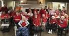 Monticello Nursing and Rehabilitation Center staff and residents honor National Wear Red Day on Feb. 2. February is American heart Health Month. (Photo submitted)
