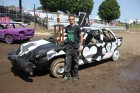 Brad Schmidt of Cedar Rapids won Best of Show at the demo derby in the Mid-size Division. (Photos by Pete Temple)