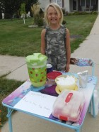 "Six-year-old Joslynn Kray of Monticello set up a lemonade stand outside her house on Aug. 22 and 23 with the goal of raising money for the Monticello Fire Department. She ended up raising over $100, and will present the donation to the MFD during their September meeting. Joslynn chose to raise money for the MFD ""because they keep us safe and I'm very thankful for them."" She is the daughter of Josh and Rochelle Kray. Josh is a member of MFD. (Photo submitted)"