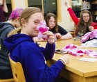 "The Monticello Public Library held its annual ""Teen Anti-Valentine's Bash"" on Feb. 14. The group took part in lots of crafts, including handmade voodoo dolls, as seen here. (Photo submitted)"