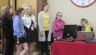 """The Monticello Public Library held its annual """"Cookies, Cocoa & Carols"""" holiday party on Dec. 13. DaLana Rigby brought her karaoke equipment as middle school choir members performed holiday songs for everyone."""