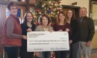 The Jones County Family Council received $200 for Shop with a Cop. From left are Sheri Jones, recorder; Jane Russell, chief deputy assessor; Sherri Hunt and Heather Weers with the Family Council; Michele Lubben, deputy auditor; and Ned Rohwedder, county supervisor.