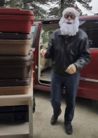 Senior Dining driver Pete Sauser dressed the part of Santa as he delivered Meals on Wheels to seniors on Dec. 22.