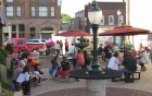 The great July weather brought many people to Uptown Thurs Night in downtown Monticello. There was music, food, beverages and activities for all to enjoy.