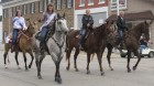 A parade wouldn't be complete without the horses and their riders: Jaelynn Kraus, 2019-20 GJCF Princess, Brooklyn Stark, Halle Recker, and Ava Capron, all of Monticello.