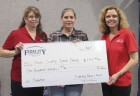 Fidelity Bank & Trust in Monticello presented a donation check for $100 for the Jones County Senior Dining program. From left are Jackie Reuter with Fidelity; Lisa Tallman, Senior Dining director; and Carolyn Turnis with Fidelity.