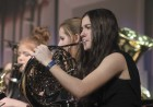 Anna Loes performs on French horn at the band concert Dec. 19. (Photo by Pete Temple)
