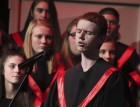 Rob Holmes sings a solo during the Vocal Fall Concert.