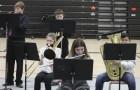 The middle school jazz ensemble was also part of Jammin' in January. They include, seated from left: Brynn Schmit, Kaedence Etringer and Antonio Lagunes. Standing: Lane Weber and Grant Gassman.