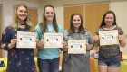 Receiving certificates for All-State Individual Speech were (from left) Elle Boeding, Rileigh Lambert, Olivia Goodyear and Payton Jaeger.