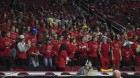 Monticello fans had plenty of reason to cheer during the Panthers' State Class 3A Girls Basketball Tournament quarterfinal win over Clear Lake Feb. 27 at Wells Fargo Arena in Des Moines. (Photo by Pete Temple)