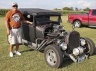Steve Kremer of Monticello poses with a 1929 Model A two-door sedan.