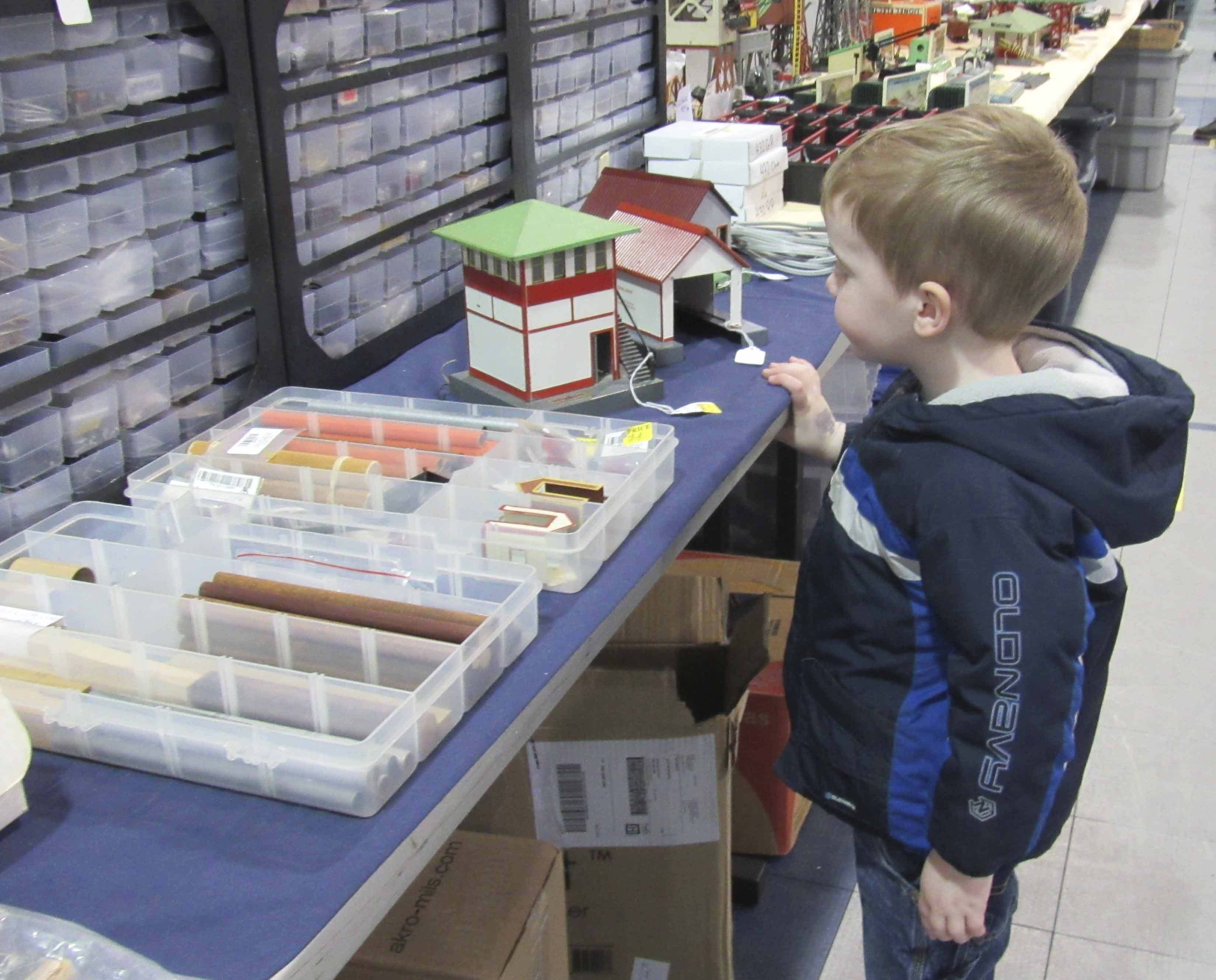 Dax Pasker of Monticello enjoyed taking in all of the trains and collectibles at the Train show & Swap Meet in Monticello. There were 19 vendors on hand, selling model train parts and accessories, as well as railroad memorabilia.